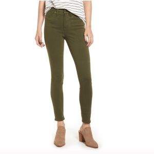 """Madewell 9"""" High Rise Skinny Garment Dyed Jeans"""